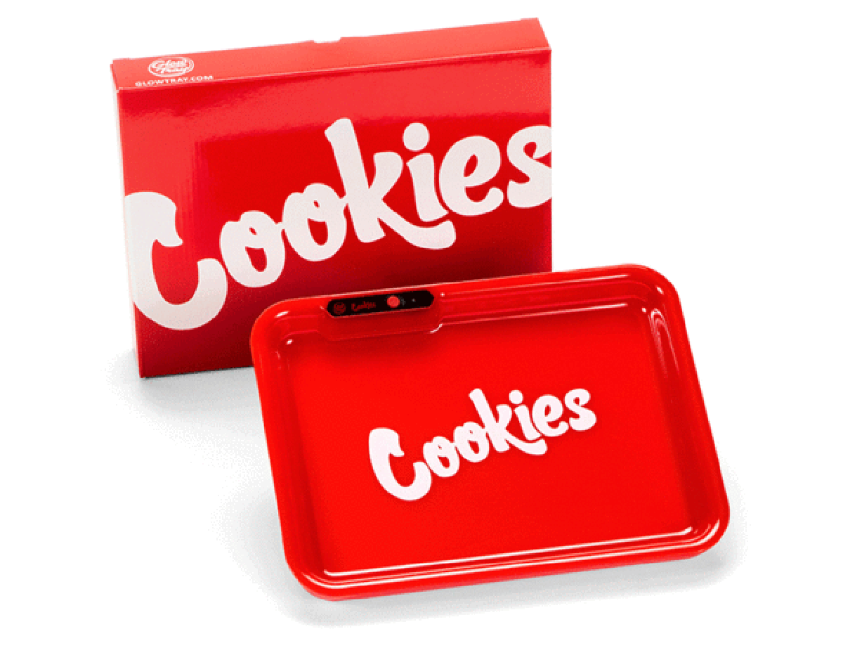 The light up rolling tray from Cookies SF is a great smoking accessory for joint rollers.